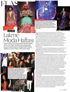 Lakme Fashion Week article for Vogue Turkey by Sara Noel