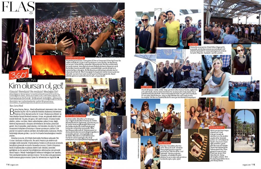 Vogue Turkey - July 2012 - Sonar Festival