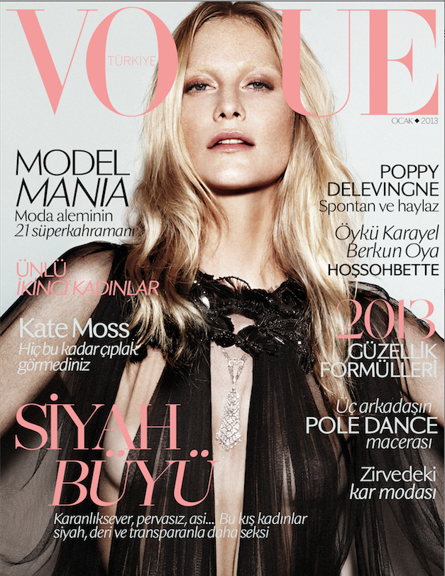 Vogue Turkey - January 2013 - Poppy Delevingne